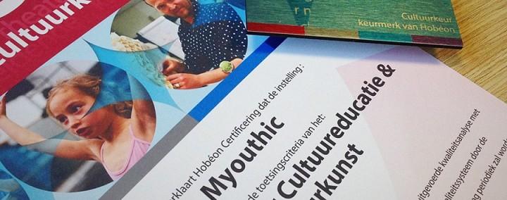Myouthic behaalt kwaliteitskeurmerk CultuurKeur